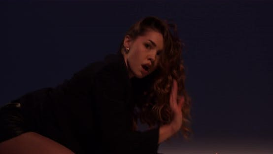 Close Up of a Young Woman Dancing on the Floor Professional Choreography