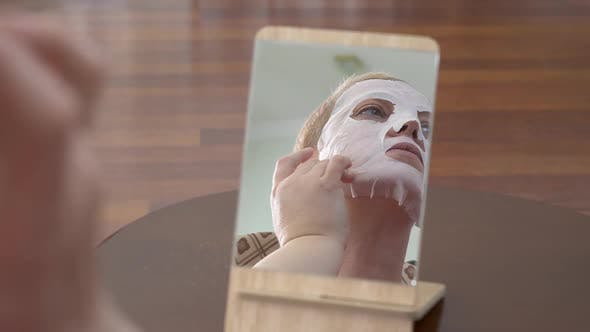 Thumbnail for Mature Woman in Facial Mask for Face
