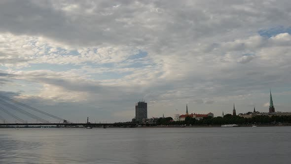 Thumbnail for Time lapse from the Vanšu Bridge and Daugava river