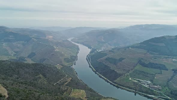 Thumbnail for Aerial View of Terraced Vineyards in Portugal