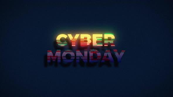 Thumbnail for Retro Glitch Cyber Monday Sale