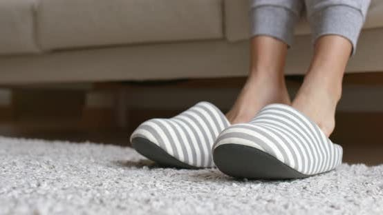 Thumbnail for Woman wear Flip flops at home