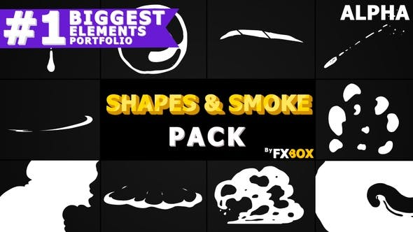 Thumbnail for 2D Shapes And Smoke | Motion Graphics Pack