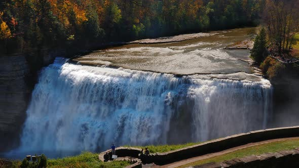 Cover Image for Genesee River with Banks Covered with Autumn Forest. Letchworth State Park