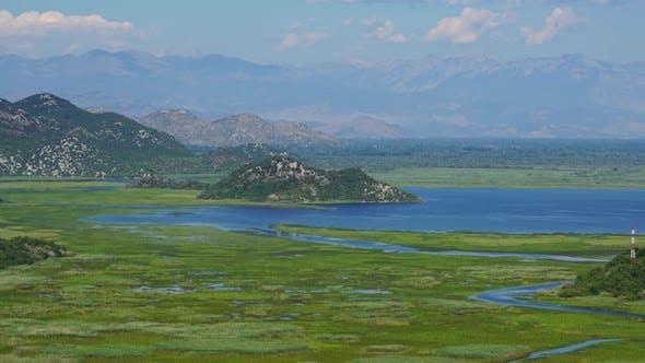Skadar See in Montenegro im Sommer