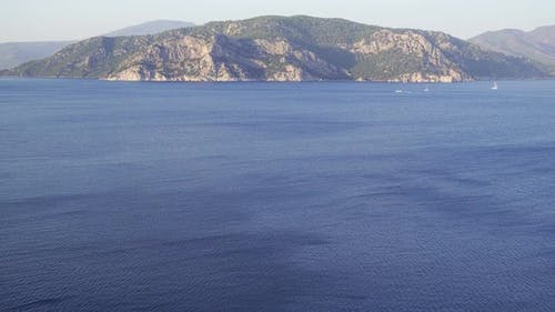 Fascinating Mountain View Of The Aegean Sea.  .
