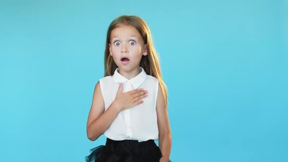 Shocked Girl Disbelief Joy Winner Success