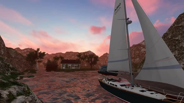 Thumbnail for The ship is sailing at night