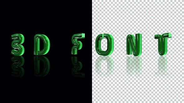 Thumbnail for 3d Glass Letters