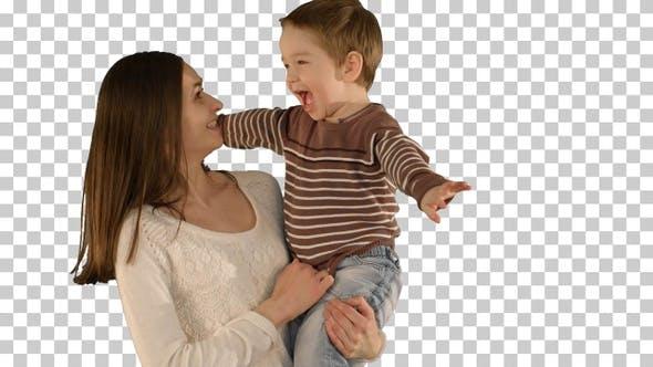 Thumbnail for Glückliche Familie mit Spaß, Alpha Channel