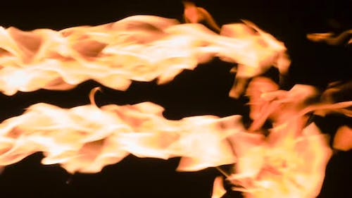 Parallel Streams Of Flame