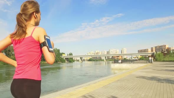 Thumbnail for Runner Woman Running In City Exercising Outdoors 10