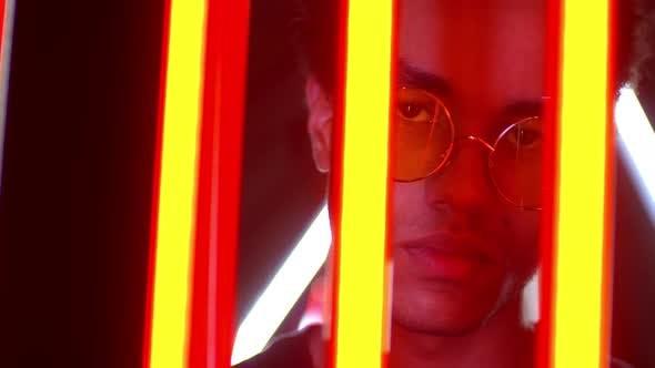 Thumbnail for Male Fashion Neon Portrait