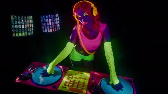 Thumbnail for glow uv dj party music fluorescent woman disco ultra violet