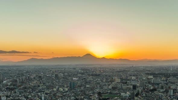 Tokyo Sunset Fuji Mt.