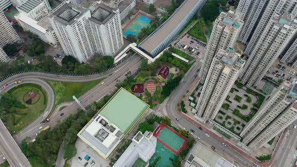 Thumbnail for Top view of Hong Kong residential district