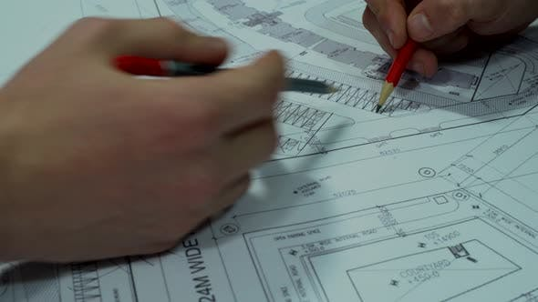 Thumbnail for In Heavenly Office Engineers Planning Сonstruction - Speed Video
