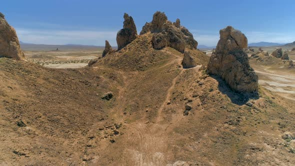 Thumbnail for Rocks That Rise From the Bed of the Searles Dry Lake Basin