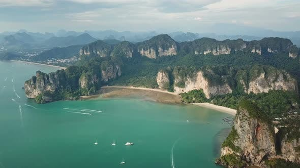 Thumbnail for Aerial View of Tropical Turquoise Lagoon, Thailand