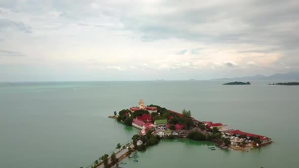 Thumbnail for Big Buddha Statue Aerial View in Phuket, Thailand