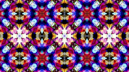 Colorful Stained Glass Kaleidoscope Loop 4K 11