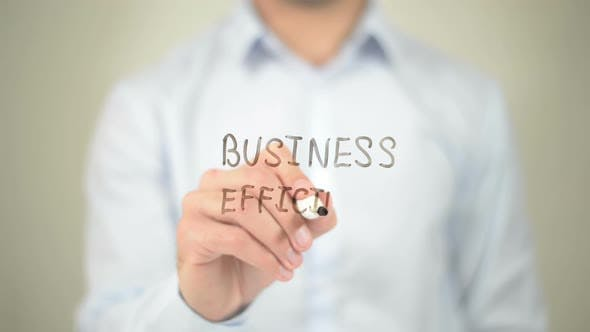 Thumbnail for Business Efficiency, Businessman Writing on Transparent Screen