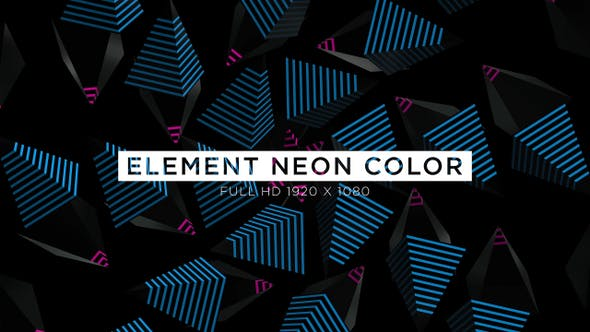 Thumbnail for Element Neon Color VJ Loops Background