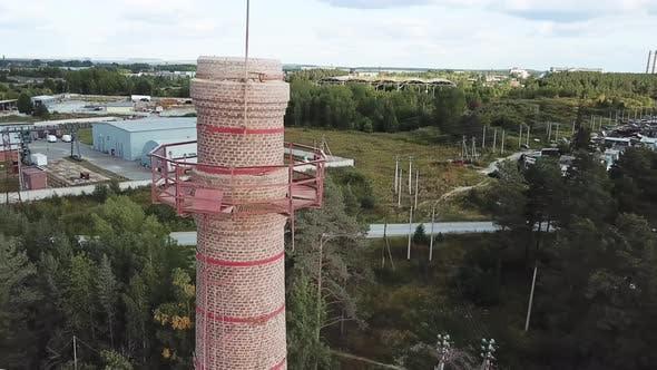 Thumbnail for Aerial of smoke chimney