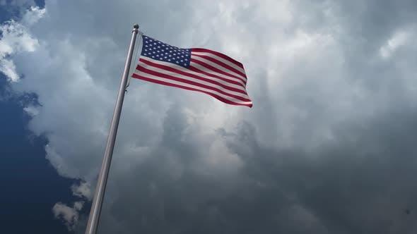 Flagge der Vereinigten Staaten winkt 4K