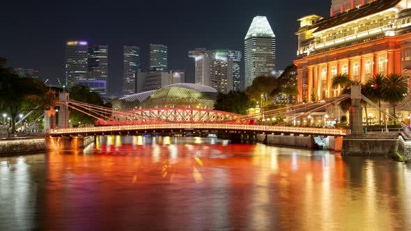 Thumbnail for Singapore Pleasure Yachts in River Night