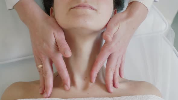Spa Facial Massage in Beauty Spa Salon. Beauty Treatments. Body Care, Skin Care, Wellness, Wellbeing