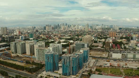 Thumbnail for City of Manila, the Capital of the Philippines with Modern Buildings. Aerial View
