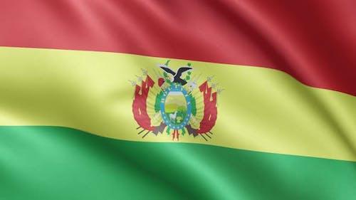 Bolivian flag | Flag of Bolivia | UHD | 60fps