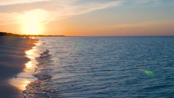 Thumbnail for Showing A Beautiful Caribbean Sun Set On A Tropical Beach