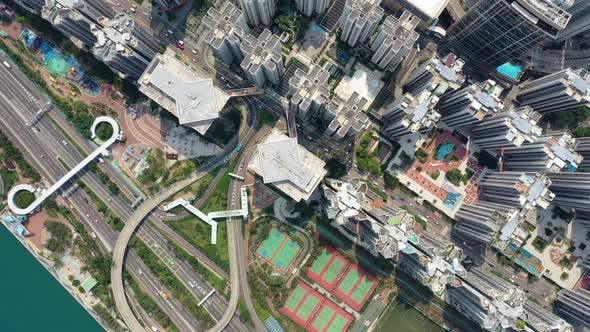 Thumbnail for Top view of city in Hong Kong