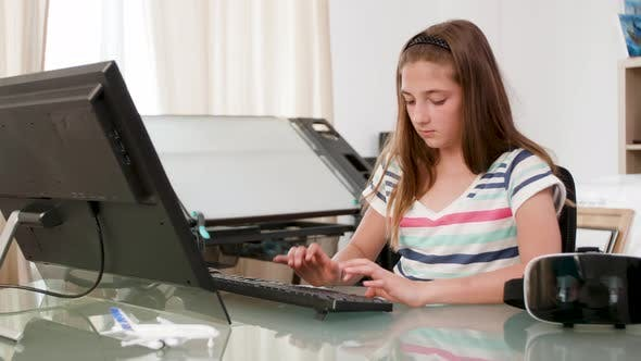 Thumbnail for Teen Girl Installing Software for Her New Vr Headset