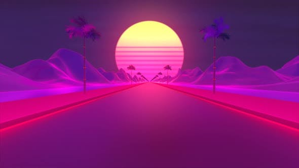 Cyberpunk Road Background