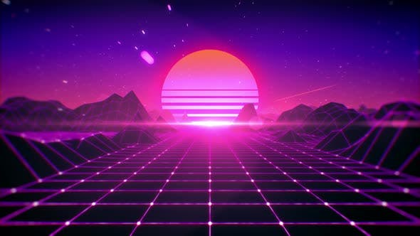 Thumbnail for 80's Retro Background