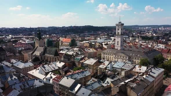 Thumbnail for Historic Center of Lviv Ukraine on a Sunny Day