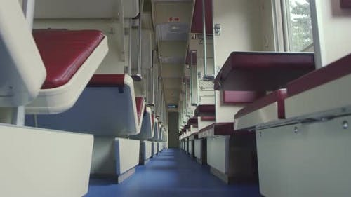 Inside a Passenger Train in Russia