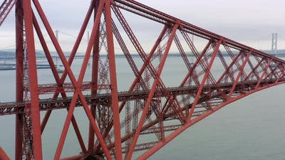 The Forth Railway Bridge in Edinburgh Scotland