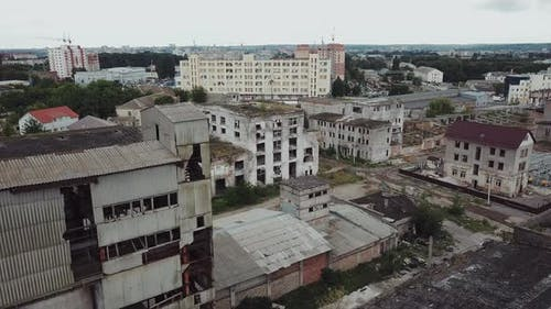 Flight Over the Destroyed Factory