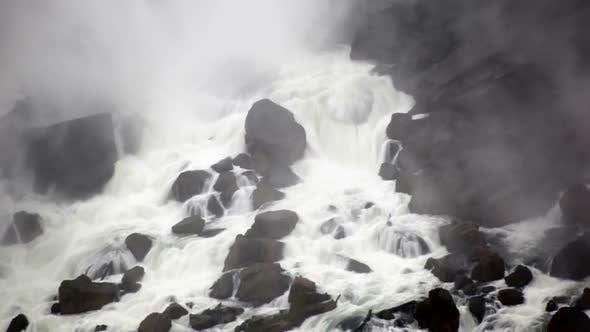 Thumbnail for Water rushing through rocks at Niagara Falls.
