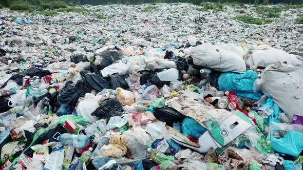 Plastic waste in polluted rivers.