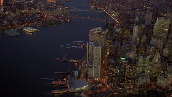 Thumbnail for Establishing Shot of Modern City Skyline Buildings in New York
