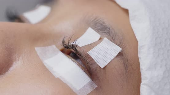 Cover Image for Beautiful young woman with eyelash extension