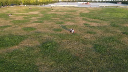 Life in the City Park after Coronavirus Drone Shot