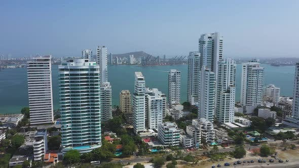 Modern Skyscrapers Business Apartments Hotels in Cartagena Colombia