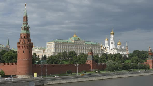 Thumbnail for The Kremlin and a river in the summer day - Moscow, Russia