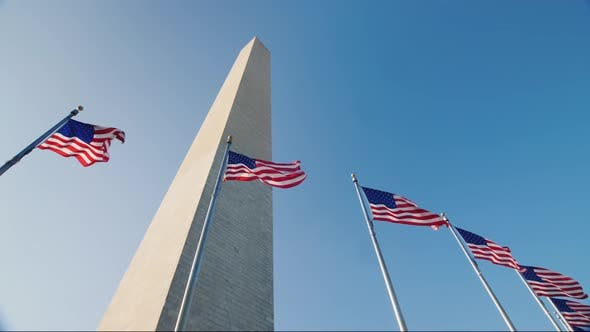 Thumbnail for American Flags and the Washington Monument
